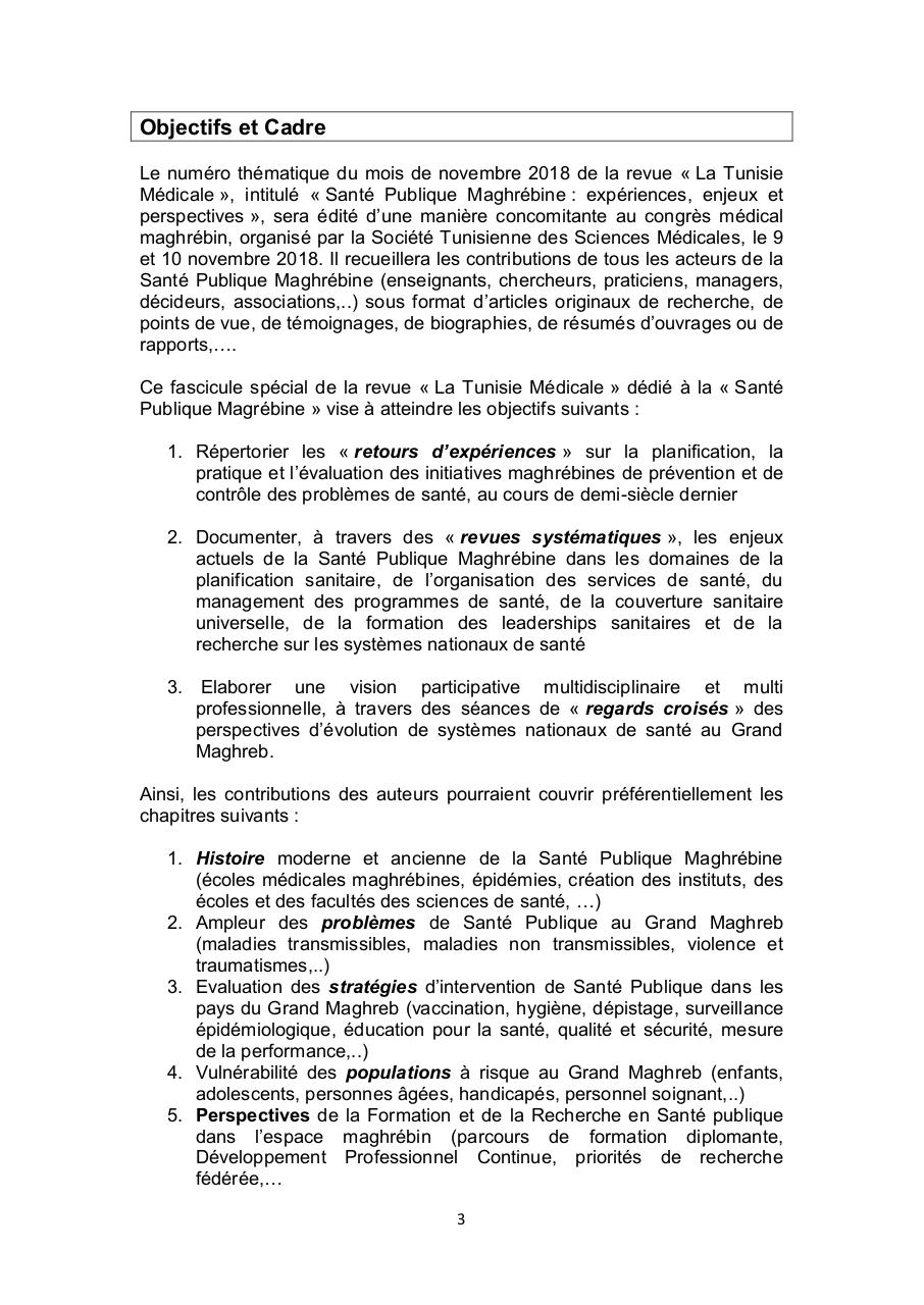Call for Papers Tunisie Médicale.PDF - page 3/6