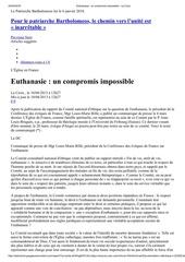 euthanasie un compromis impossible bille mars 2000