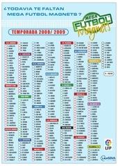 check list mega futbol 2009