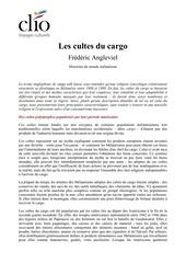 pdf les cultes du cargo