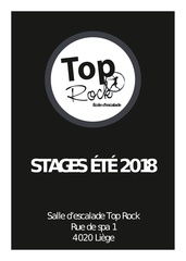 carnet des stages top rock