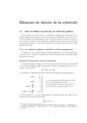 elements de la theorie de la relativite