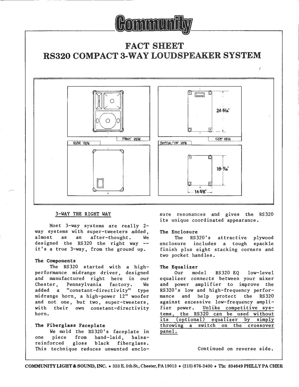 Community RS320.pdf - page 1/2