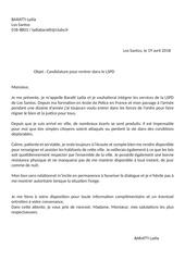 lettre de motivation lspd