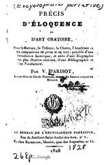 Fichier PDF v parisot precis d eloquence et d art oratoire 1