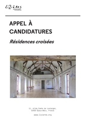 appel a candidatures residences croisees lizieres