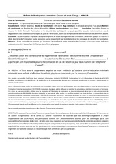 bulletin de participation escrime