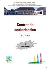 contrat de scolarisation 2017 2018