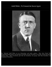adolf hitler to unmask the secret agent