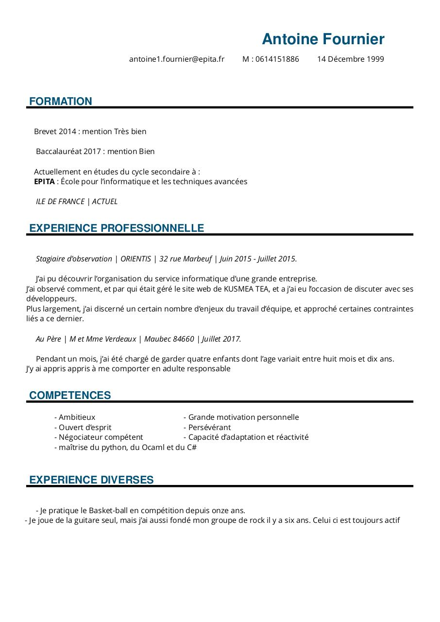 Aperçu du document Cv sans photo.pdf - page 1/1