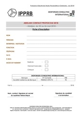 fiche d inscription abidjan contact protocole 2018