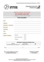 fiche d inscription acp master class 2018