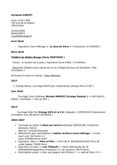 cv artistique pdf