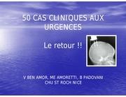50 cas cliniques aux urgences