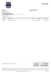 facture i 18 05 1 gendarmerie n