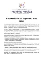 article boutique materiel medical