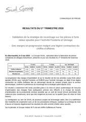 20180503 sival group resultats du 1t2018 vdef
