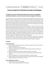 profil chargee de coordination de projet
