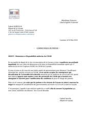 communique de presse   demissions medecins char