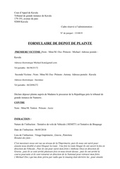 Fichier PDF formulaire de depot de plainte