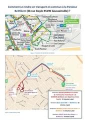 itineraire pedestre bus et rer