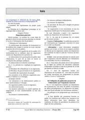 loi organique n 2016 22 du 24 mars 2016droit dacces a linfo 1