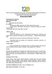 programme arboretum inat  12 mai  2018