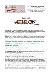 presentation francais gamme athlon   a cispra  2018