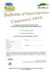 bulletin dinscription 2018