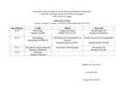 der sciences du langage emploi du temps licence 2 semestre 3