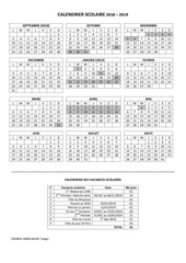 calendrier scolaire 2018 2019 fr