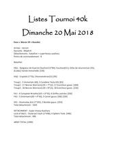listes tournoi 40k