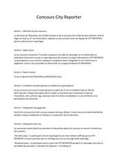 Fichier PDF reglement concours city reporter