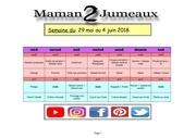 menu de la semaine 29 mai au 4 juin 2018