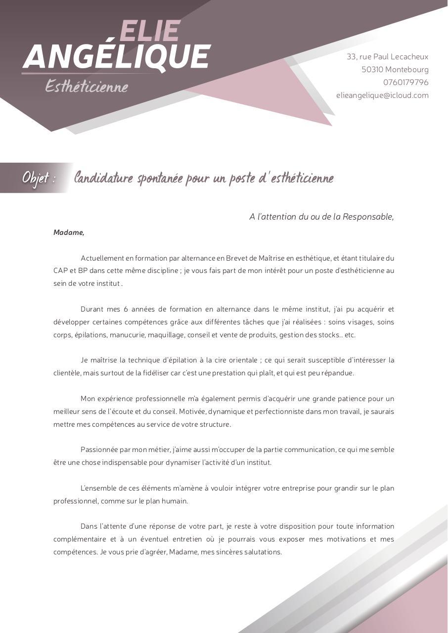 Lettre De Motivation Elie Angélique Fichier Pdf