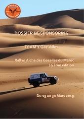 dossier sponsoring rallye des gazelles