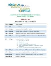 launching ceremony program