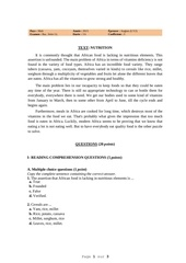 mali 2015 anglais bac serie ll lv2