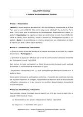 reglement quizz developpement durable 2018