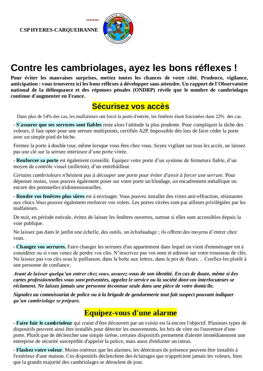 Aperçu du document PREVENTION MALVEILLANCE.pdf - page 1/3