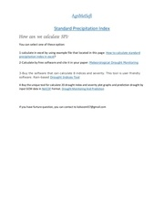 standard precipitation index