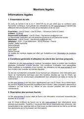 Fichier PDF mentions legales