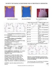 Fichier PDF un petit top facile a construire puis a tricoter ou crocheter