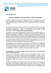 journee mondiale lenvironnement   communique du pge gabes