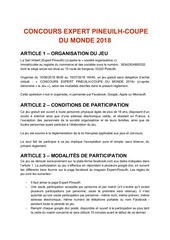 concours expert pineuilh coupe du monde 2018