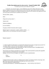 formulaire inscritpion scene ouverte acdlv 2018