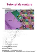 tuto tapis machine