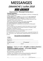 2018 07 01 vide grenier messangeles bulletin