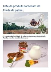 Fichier PDF liste de produits contenant de lhuile de palme