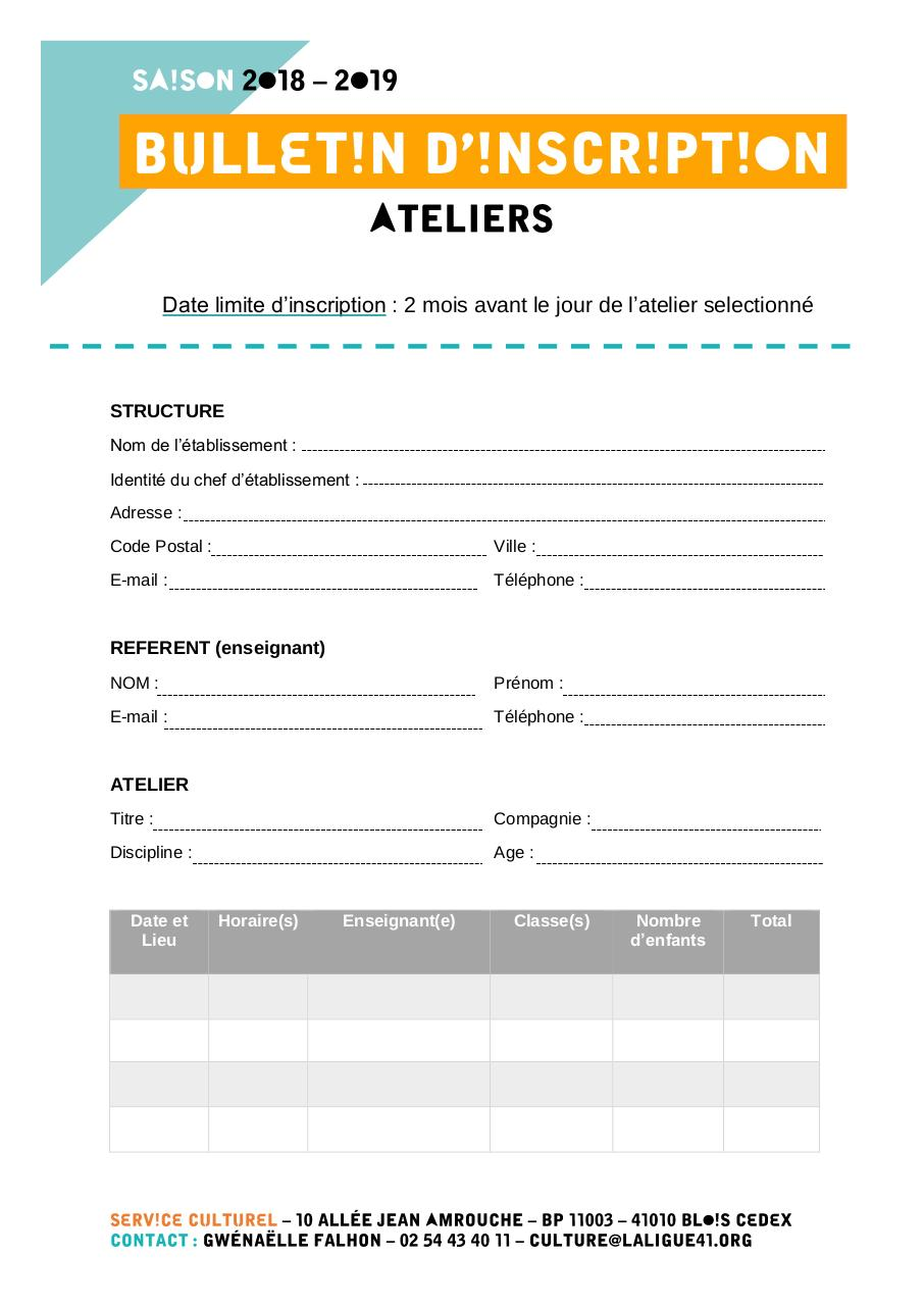 Bulletin d'inscription ATELIERS.pdf - page 1/2